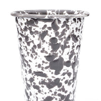 Grey / White: Splatter Enamelware Tumbler in Grey / White - LEIF