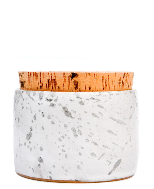 Grey Splatter: Splattered Salt Cellar in Grey Splatter - LEIF