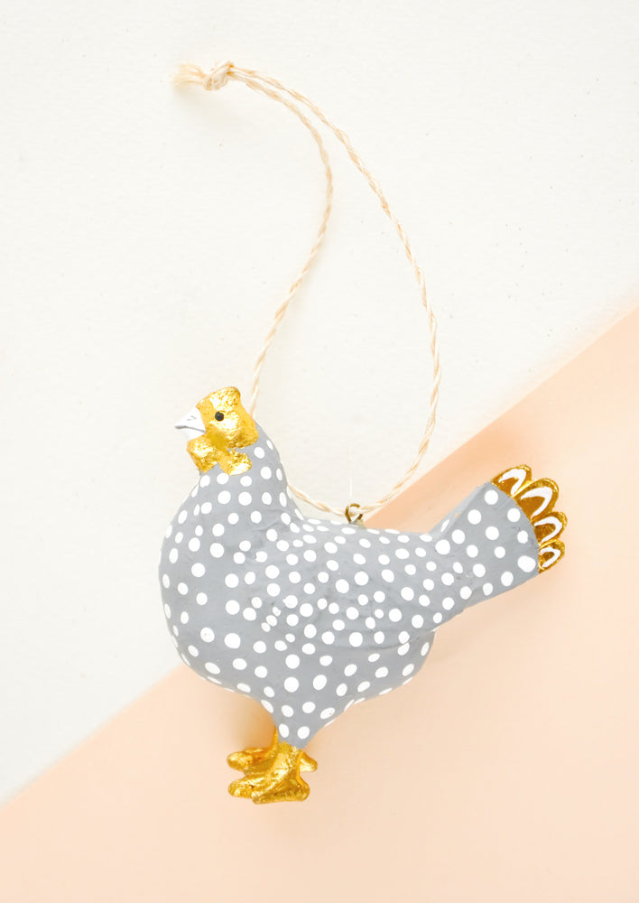 1: Spotted Hen Ornament in  - LEIF