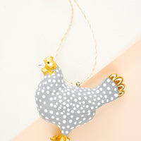 1: Spotted Hen Ornament