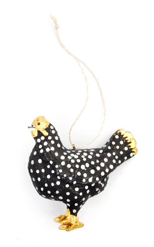 3: Spotted Hen Ornament - LEIF