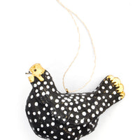 3: Spotted Hen Ornament in  - LEIF