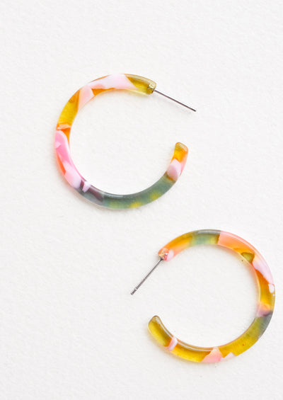 Spring Garden Hoop Earrings