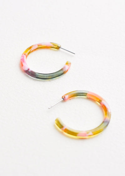 Spring Garden Hoop Earrings hover