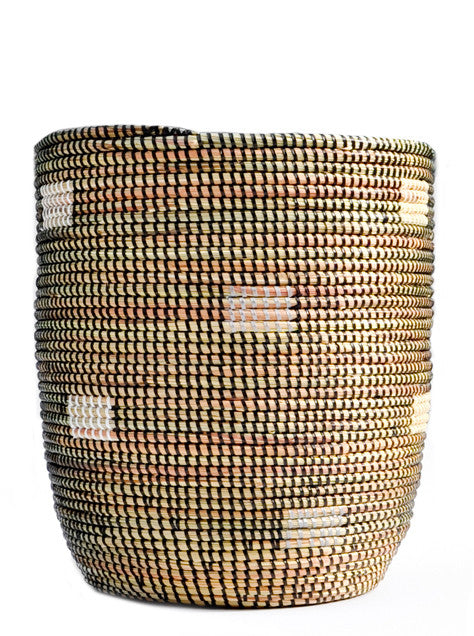 Dashes Woven Bath Bin - LEIF