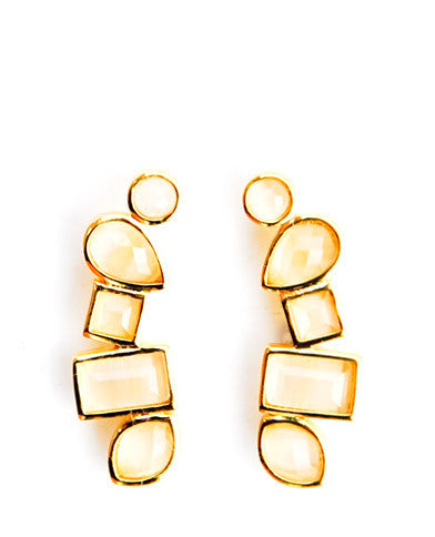 Stacked Gem Ear Climbers - LEIF