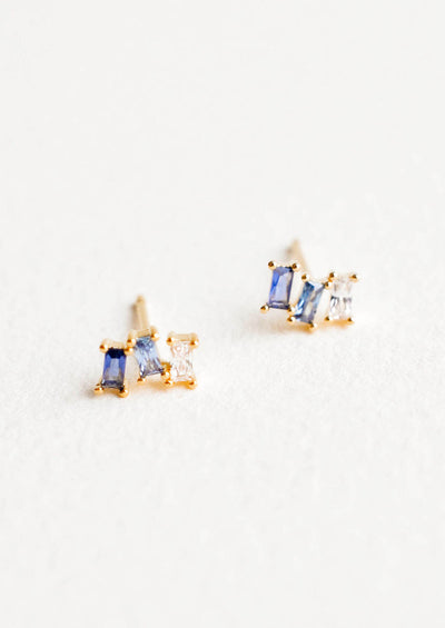 Stacked Sapphire Studs