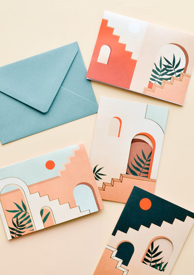 Staircases Pop Up Card Set