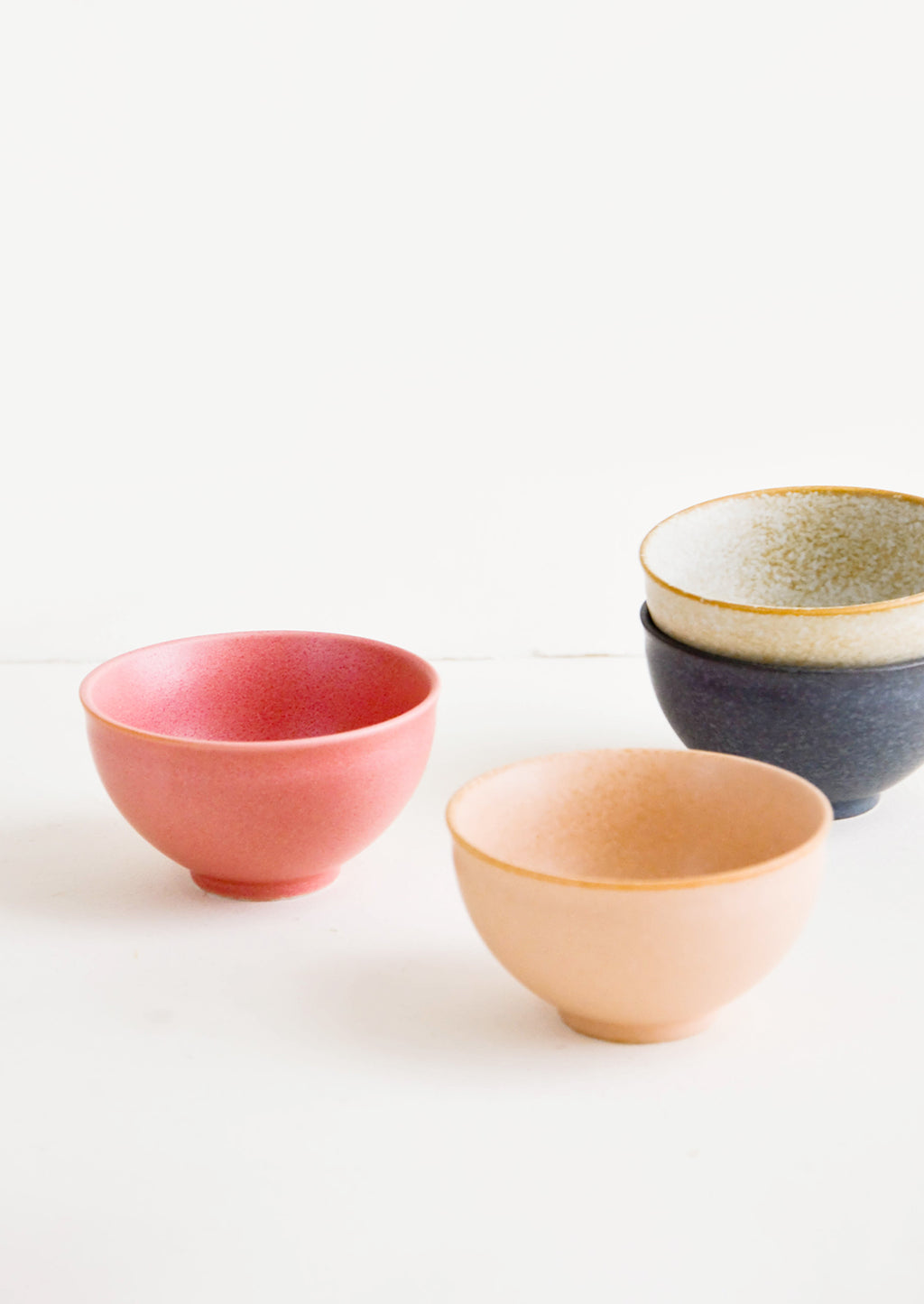 1: Mini ceramic bowls in a mix of colors