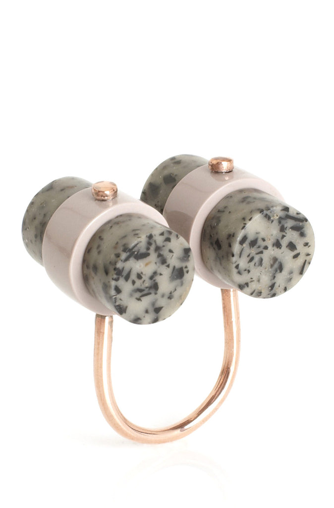 State of Mind Ring in Dalmatian Jasper - LEIF