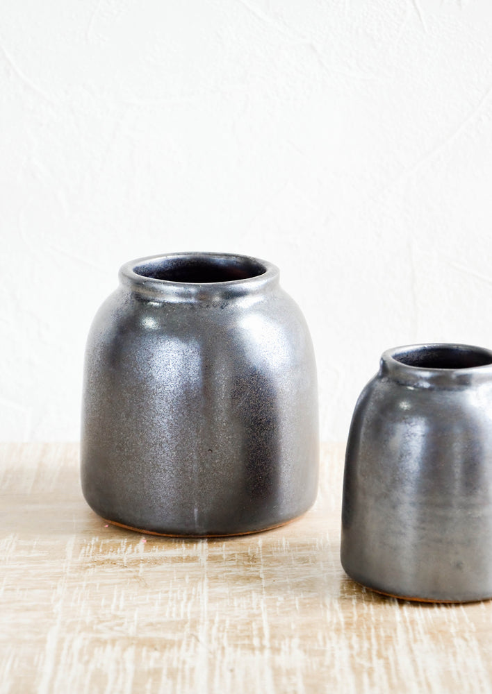 Small / Metallic Black: Stellenbosch Ceramic Vase