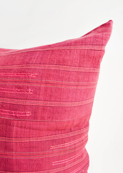 Stitch Stripe Pillow in Wine