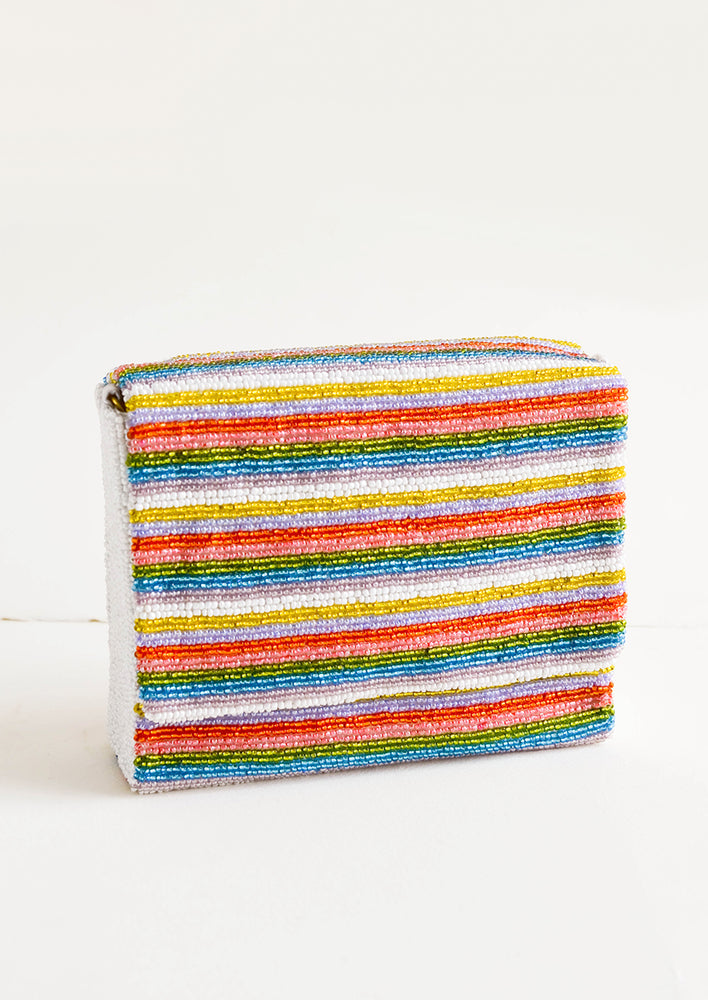 1: Striped Beaded Box Clutch