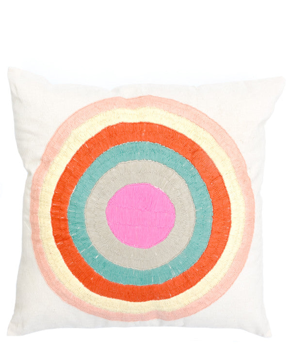 Striped Circle Pillow Cover - LEIF
