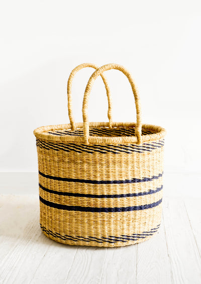 Striped Elephant Grass Basket hover