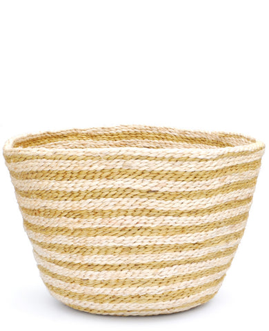 Striped Jute Bowl