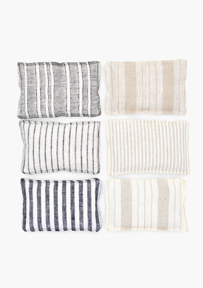 Striped Linen Sachet Set
