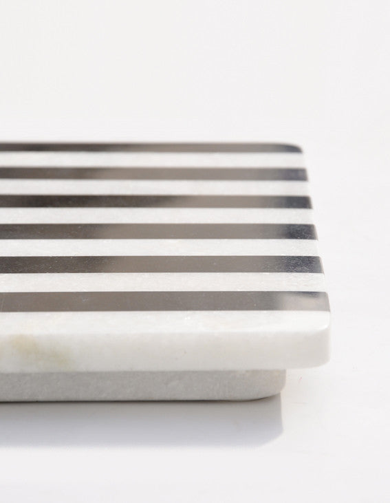 Striped Marble Serving Board