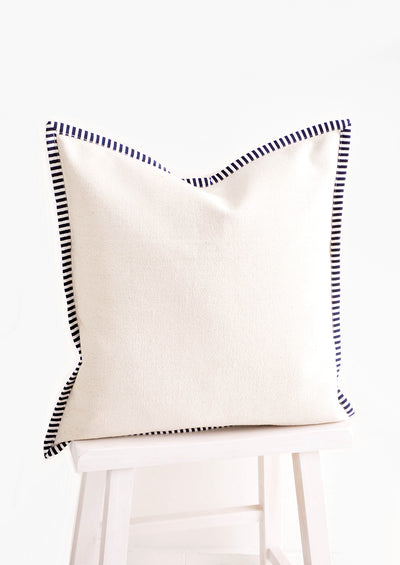 Striped Border Cotton Pillow