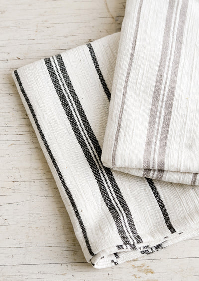 Striped Natural Cotton Hand Towel