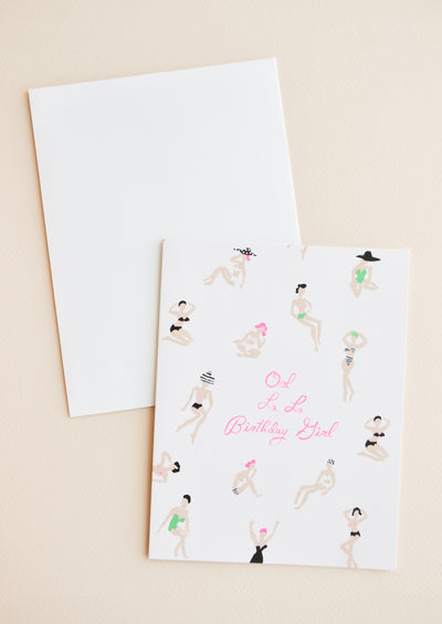 Sunbathers Birthday Card