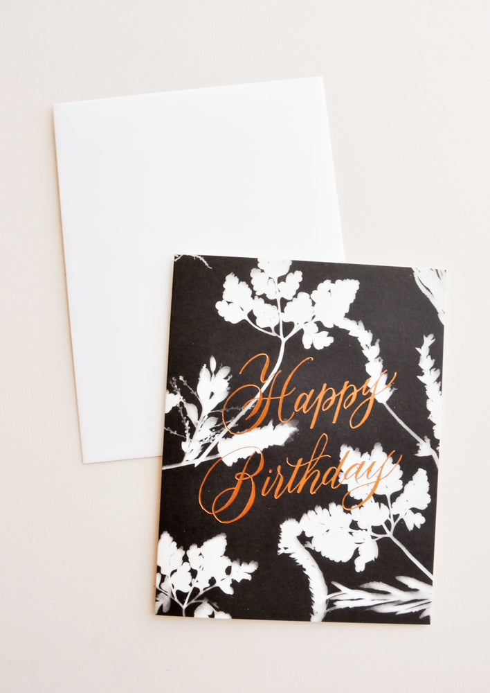 Sunprint Birthday Card