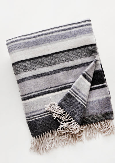 Sweater Stripe Wool Throw