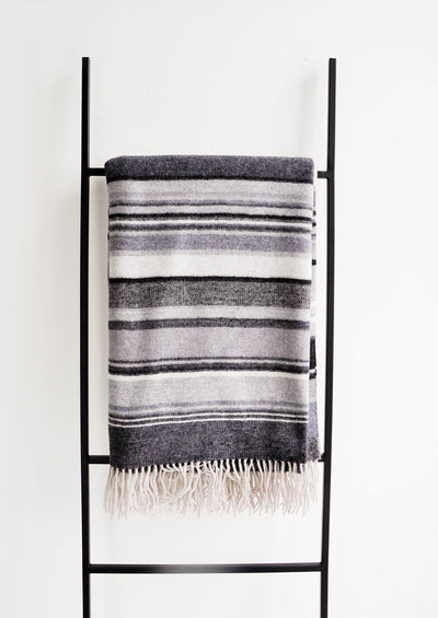 Sweater Stripe Wool Throw hover