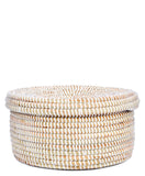 Sweetgrass Flat Lidded Basket - LEIF