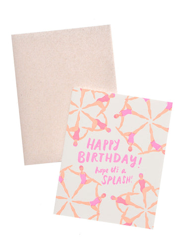 Synchronized Swimmers Birthday Card - LEIF