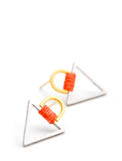 Tabbed Triangle Earrings - LEIF