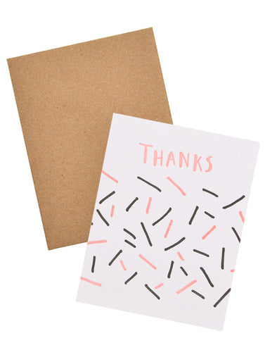 Stick Confetti Thank You Card - LEIF