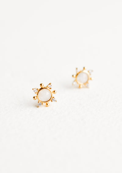 Indian Sun Stud Earrings