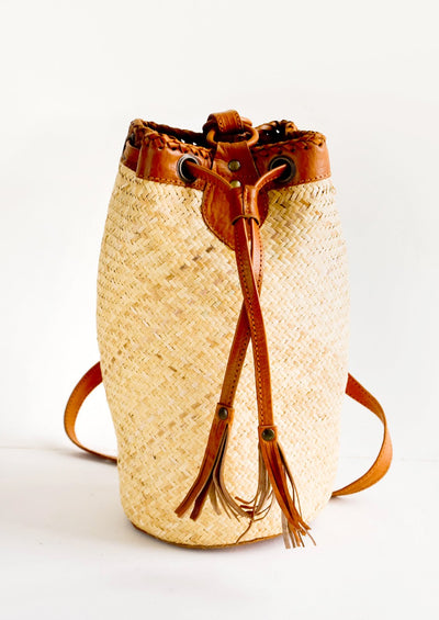 Tanami Round Straw Backpack