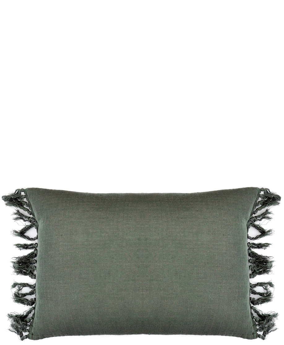 Tasseled Linen Pillow - LEIF