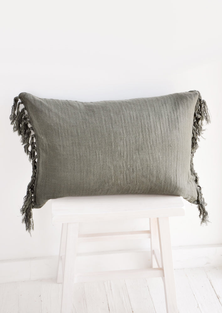 Tasseled Linen Pillow