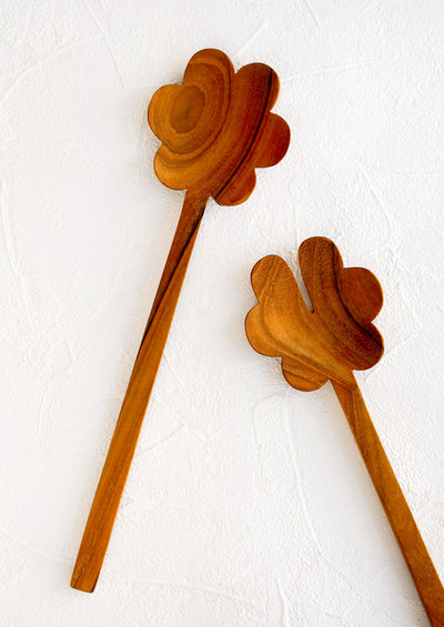 Teak Flower Serving Set