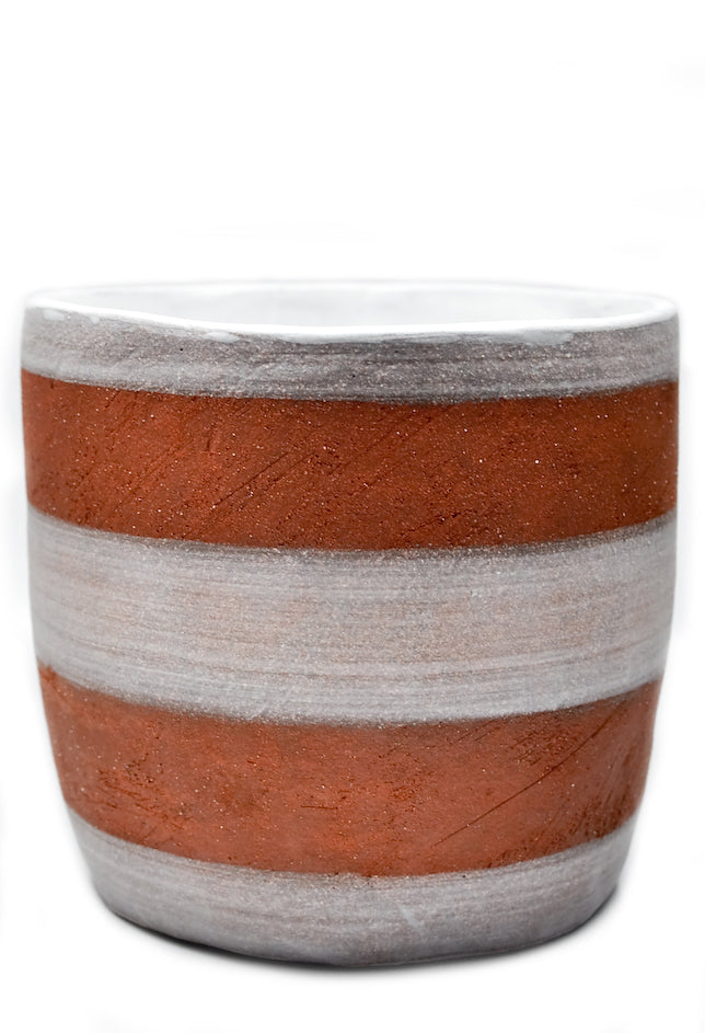 Striped Terracotta Planter