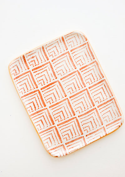 Pressed Pattern Ceramic Tea Tray hover