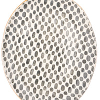 Pressed Pattern Ceramic Platter - LEIF