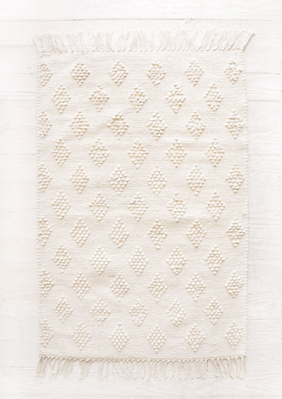 Textured Diamond Rug