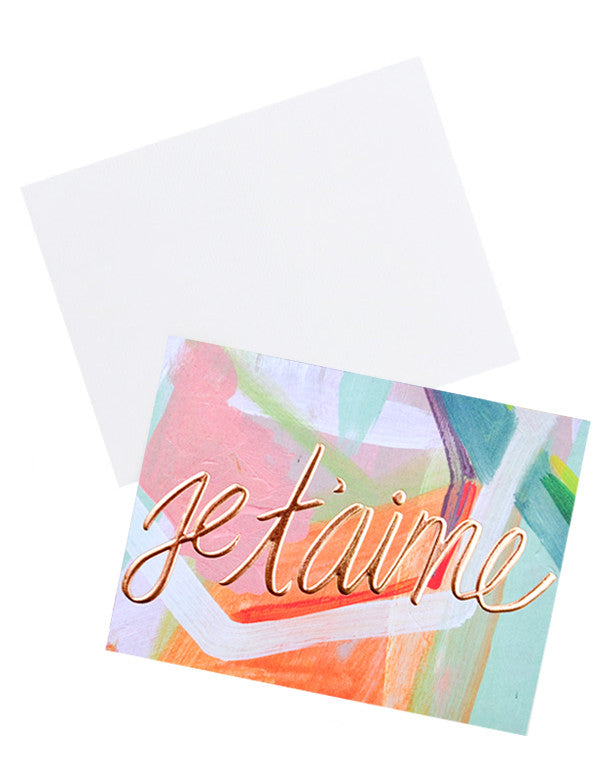 Je T'aime Copper Foil Card - LEIF
