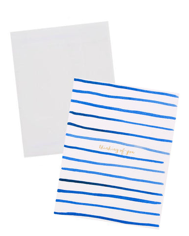 Thinking Of You Stripes Card
