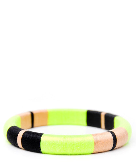 Thread Wrapped Bangle Bracelet - LEIF