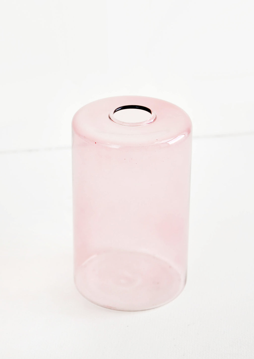 2: Colored glass flower vase in pink glass