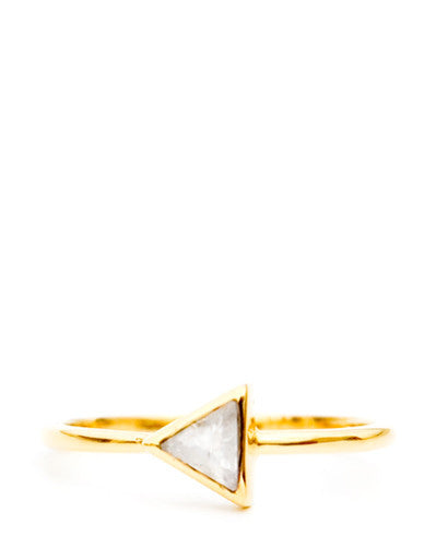 Moonstone / Size 6: Gem Triangle Ring in Moonstone / Size 6 - LEIF