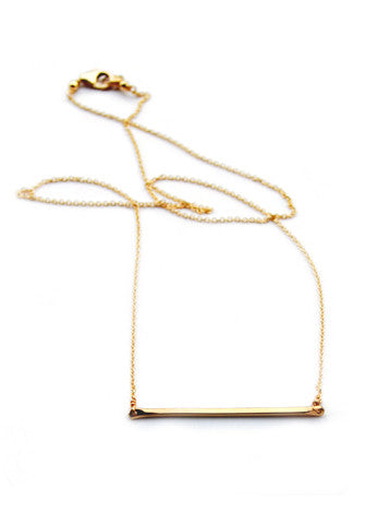 Tiny Bar Necklace - LEIF