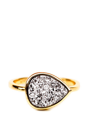Drusy Drop Ring - LEIF