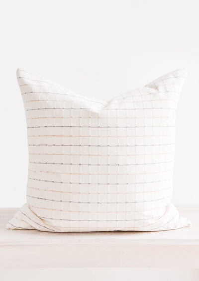 Tonal Pastel Check Pillow