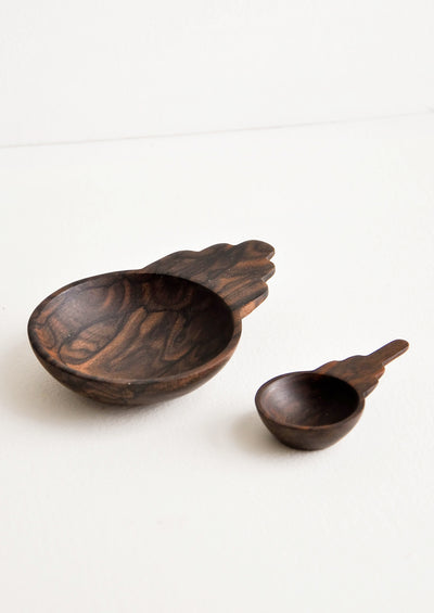 Totem Wooden Scoop Bowl